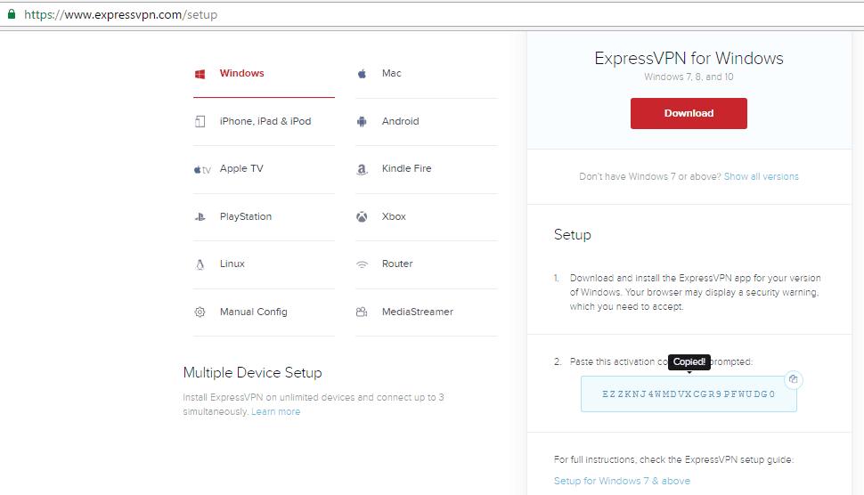 Express VPN Setup Process 2