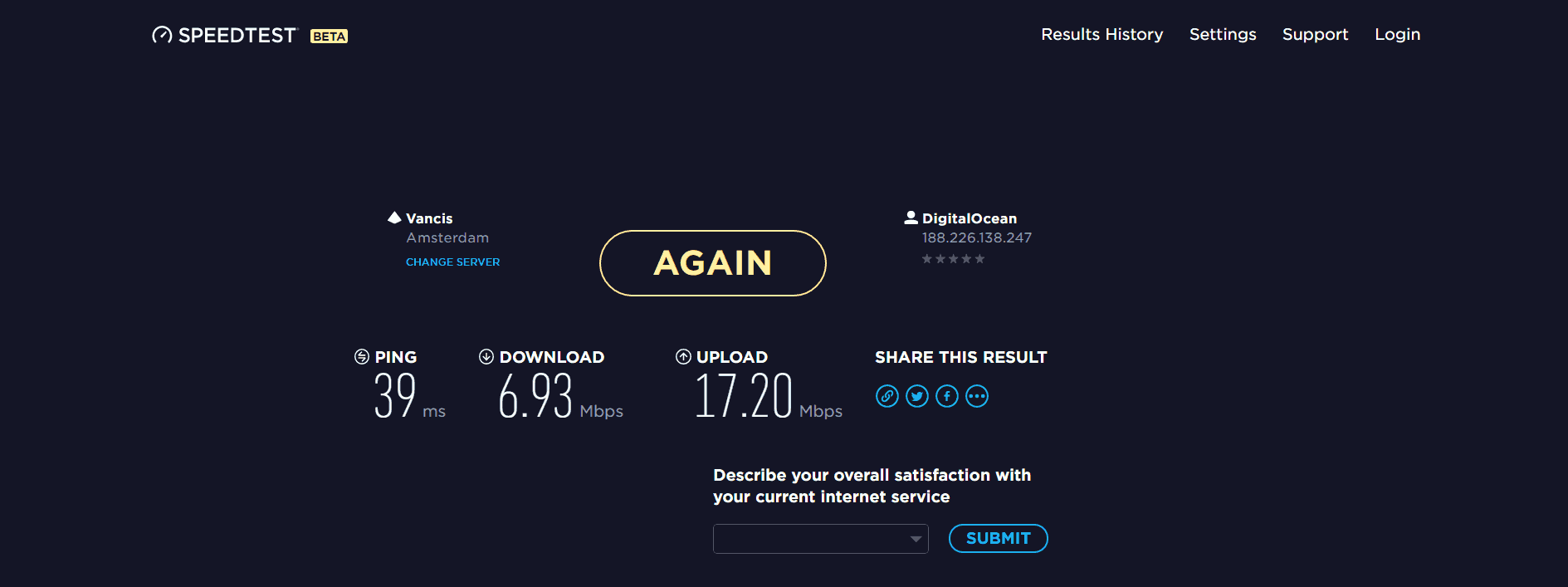 Tunnelbear upload and download speed