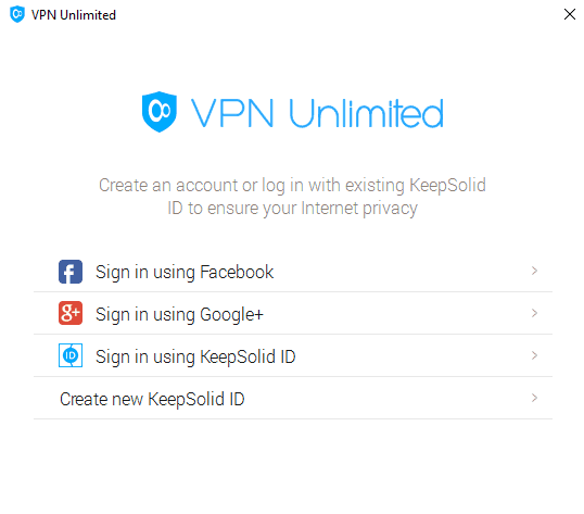 VPN Unlimited Sign In Form