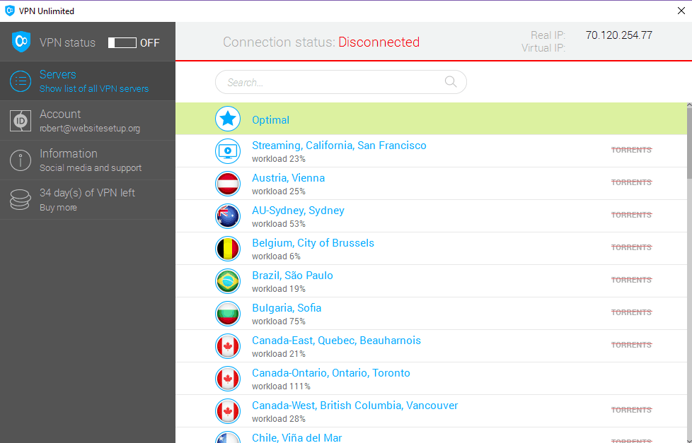 VPN Unlimited List Of Countries