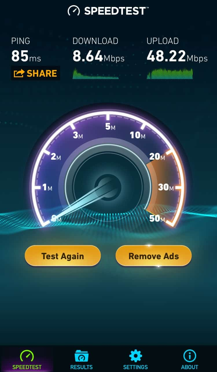 BetternetVPN Speedtest