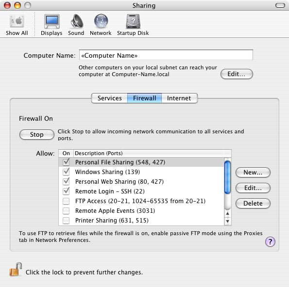 How to Turn on OS X Firewall