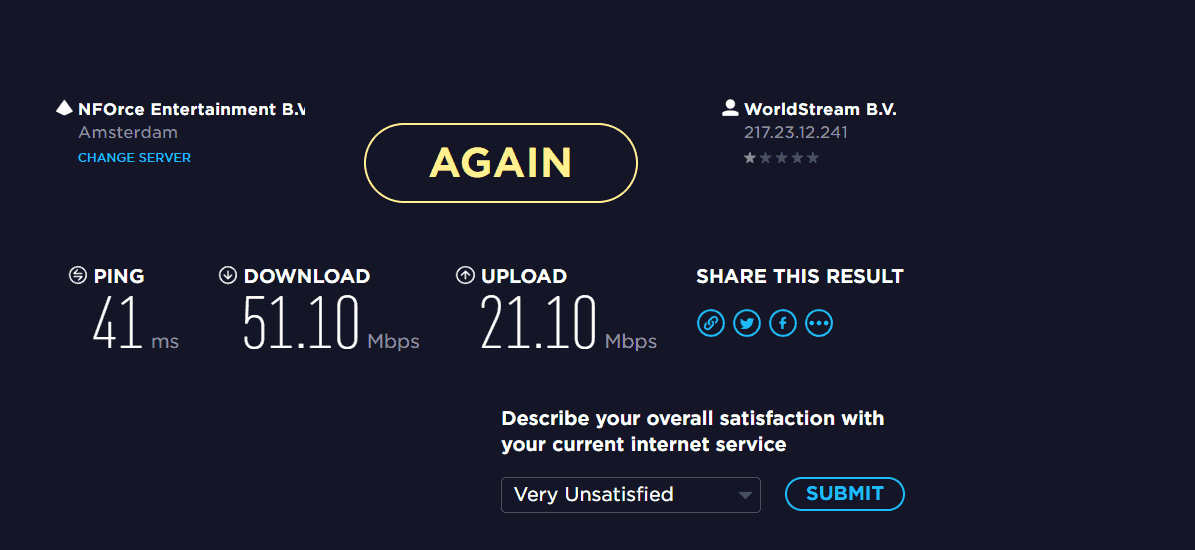 CyberGhost VPN speed performance
