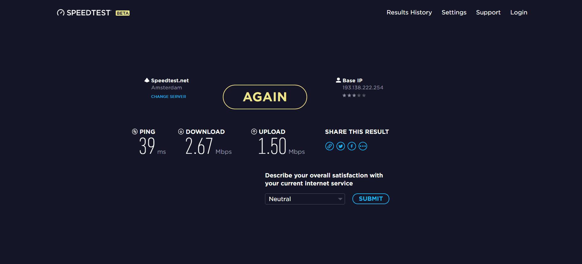 StrongVPN speed was slow