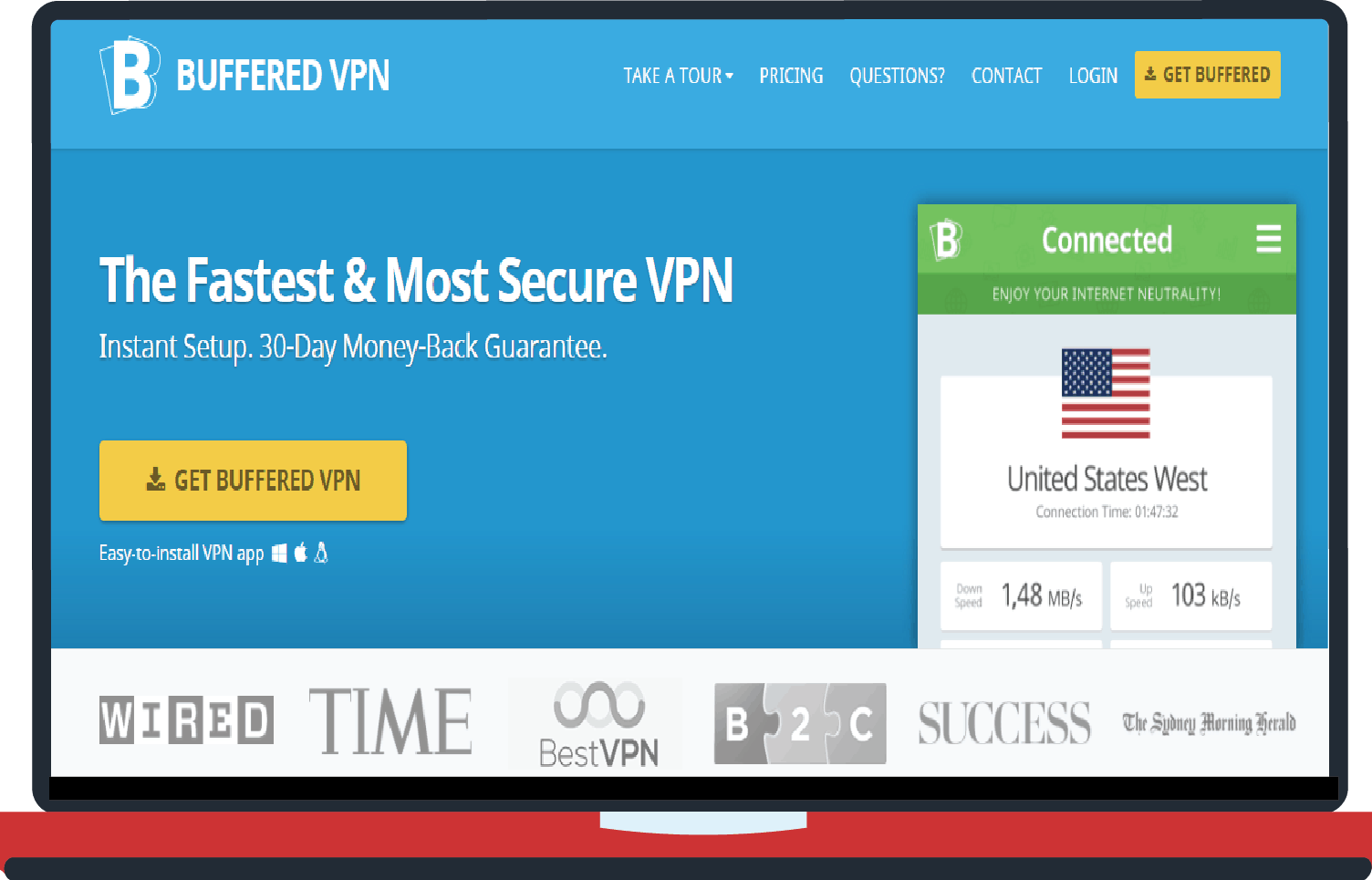 Buffered VPN for unblocking netflix