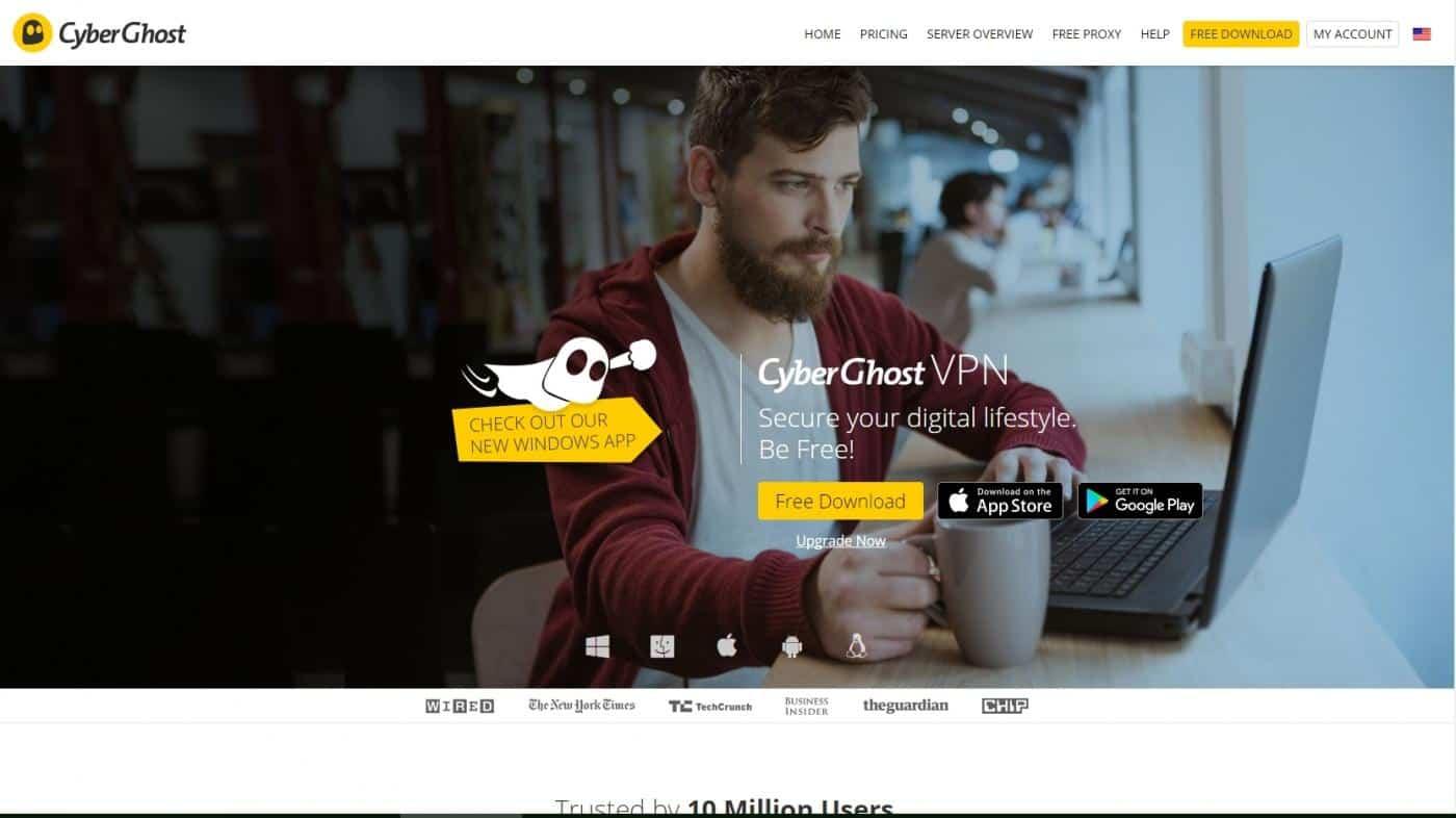 CyberGhost is a free vpn