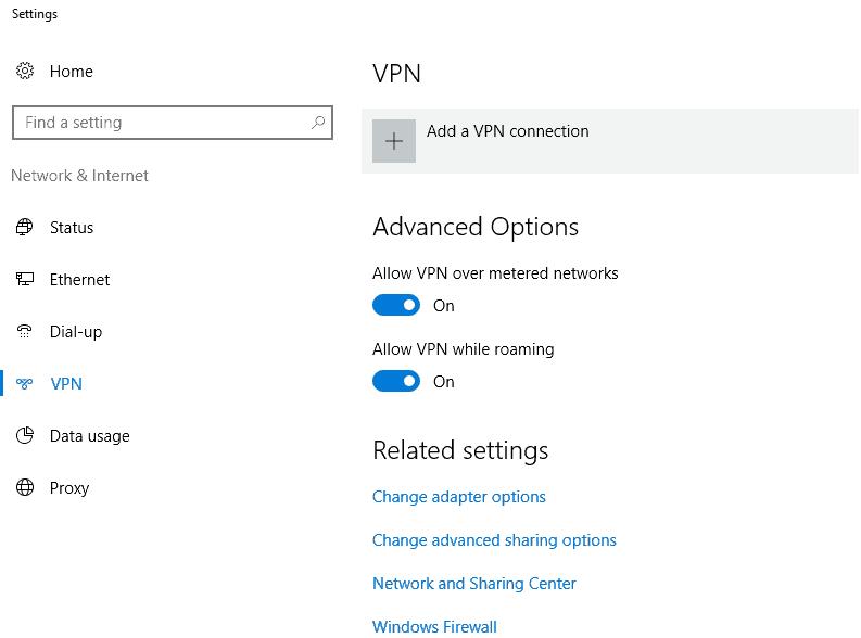 Setup VPN Connection