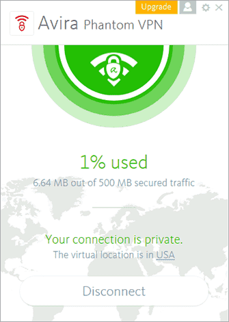 Free Avira PhantomVPN app for windows