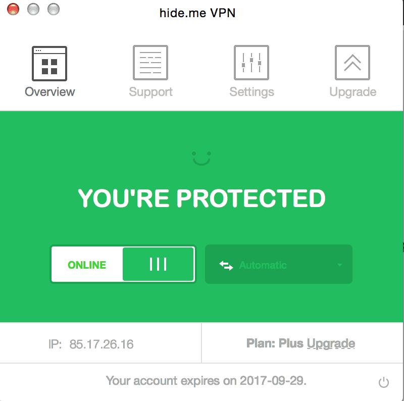 Hide.me VPN software