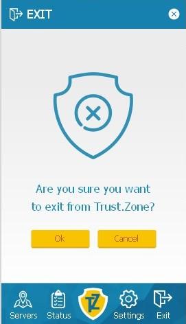 Trust.Zone client exit