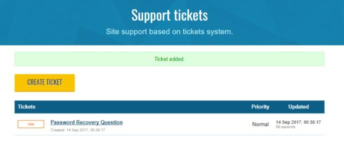 Trust.Zone support ticket added