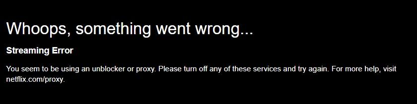 ZenMate Netflix streaming error
