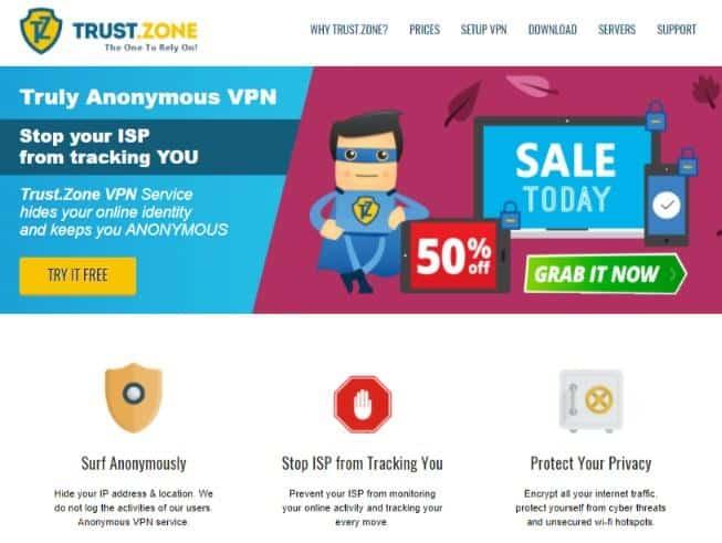 Trust.Zone homepage