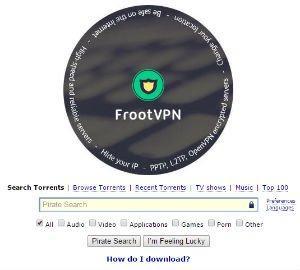 FrootVPN Pirate Bay