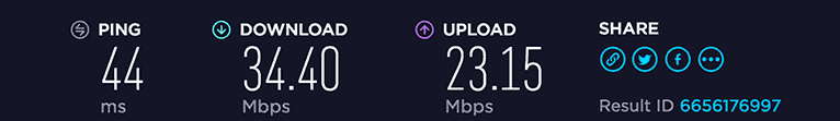 ProtonVPN speed test