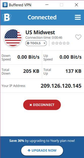 Buffered VPN client