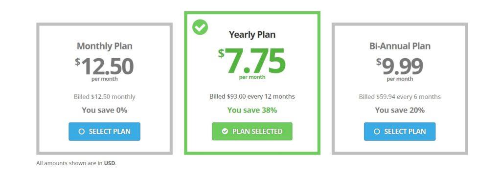 Buffered VPN Pricing (2017)