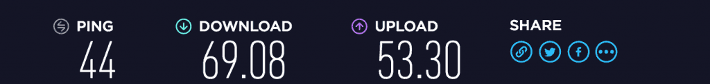 Astrill VPN download/upload speed