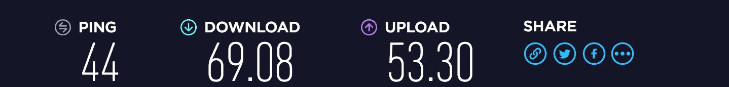 Astrill VPN download/upload speed