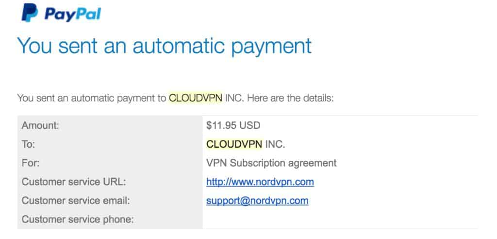 CloudVPN INC. and NordVPN