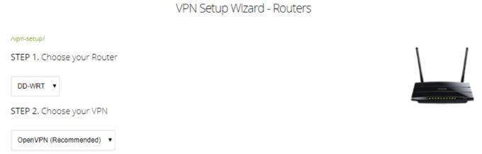 ZoogVPN router setup wizard