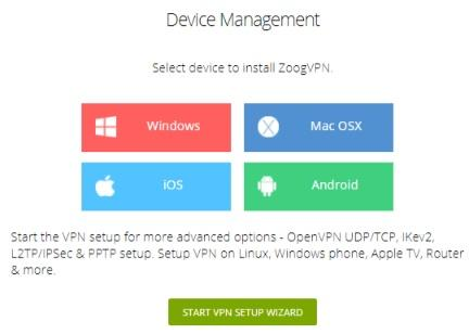 ZoogVPN device management