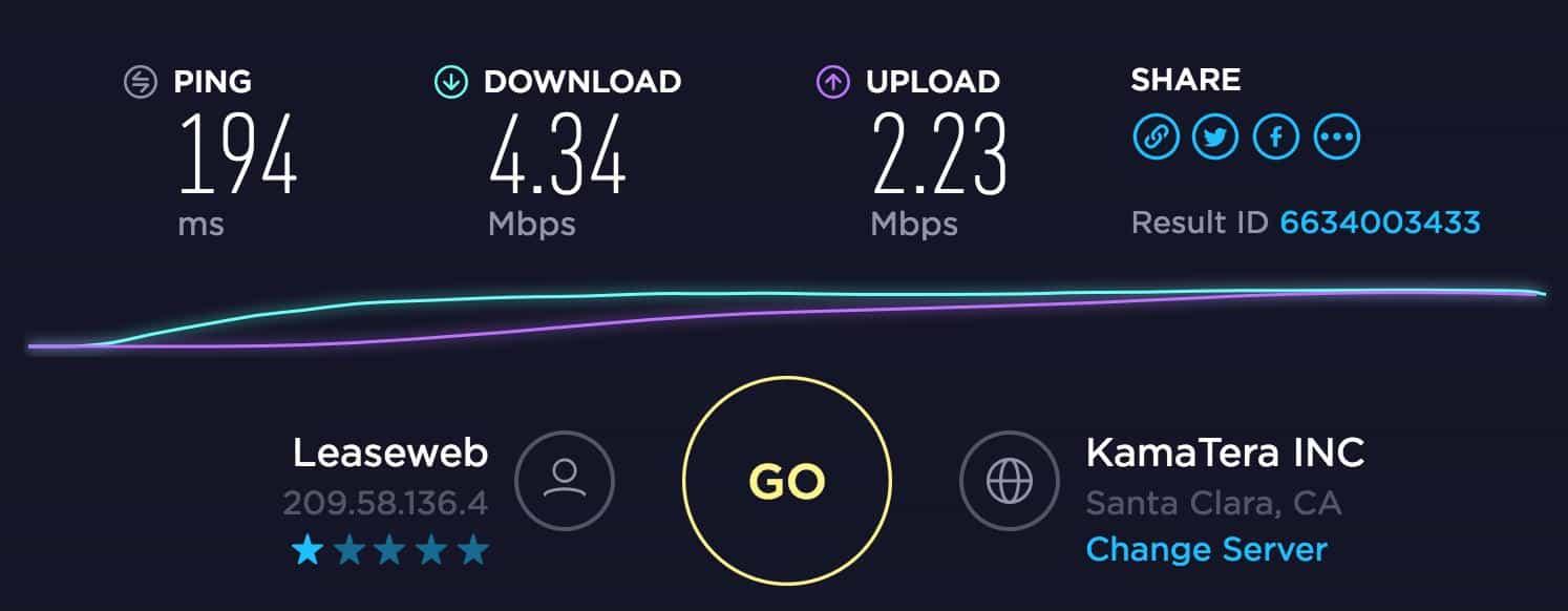 Avira Speed Test US Server