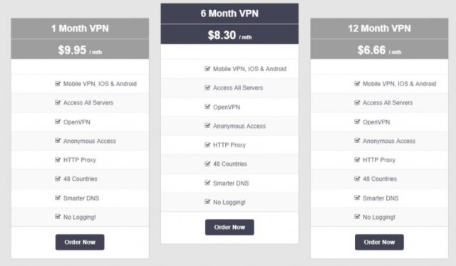 VPNsecure.me pricing and plans