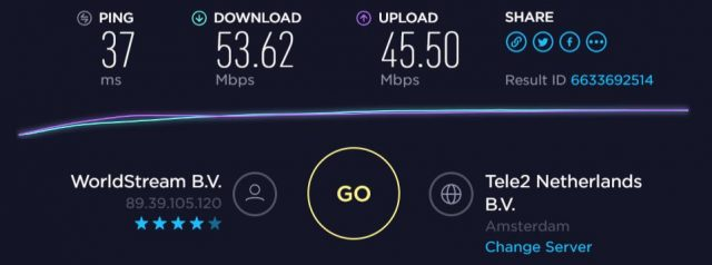 VPNSecure speed from EU