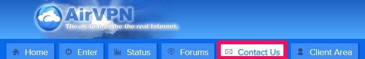 AirVPN contact us customer support