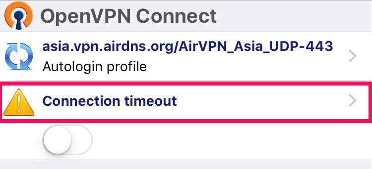 AirVPN iOS device OpenVPN Connect
