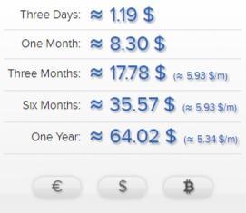 AirVPN pricing plans Euros to Dollars