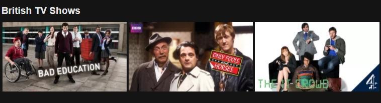 PrivateVPN Netflix British shows