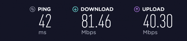 PIA speed test