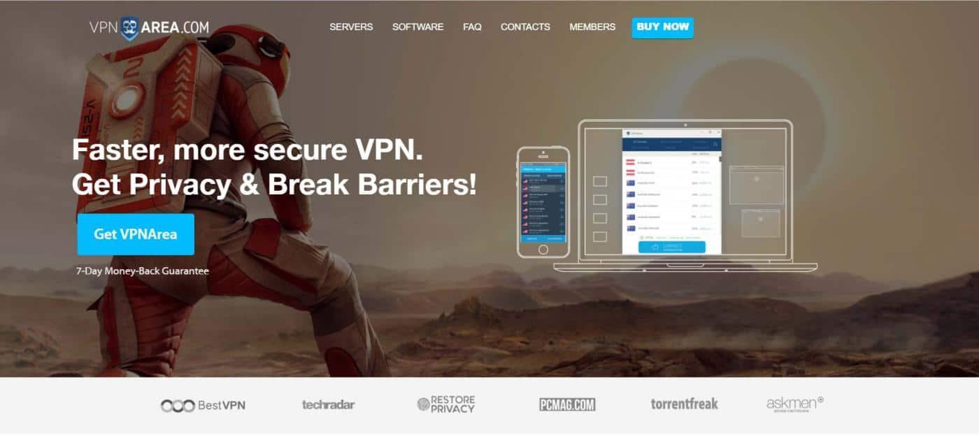 VPNArea cheap cost