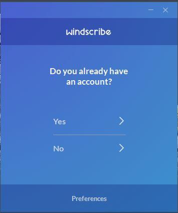 WindScribe login