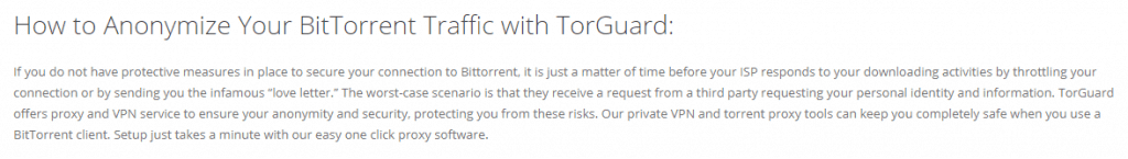 BitTorrent Traffic Torguard