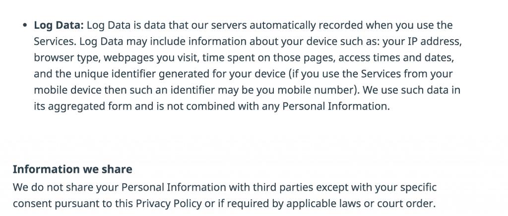 Hola VPN logs