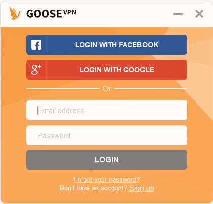 Goose VPN easy to use