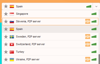 Goose VPN torrent approved server list