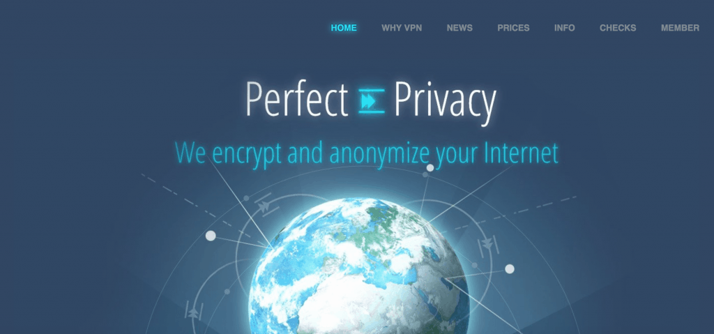 perfect privacy homepage