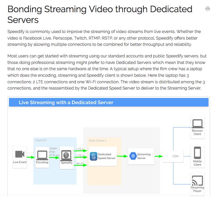 Speedify VPN dedicated server