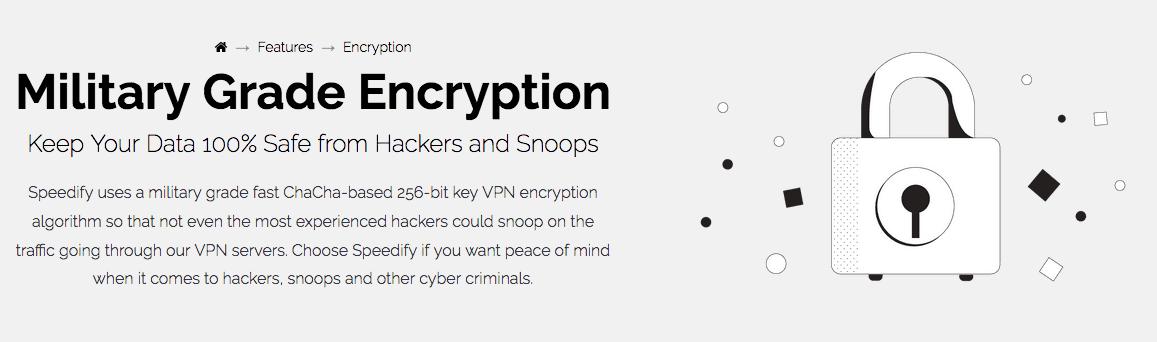 Speedify VPN Encryption
