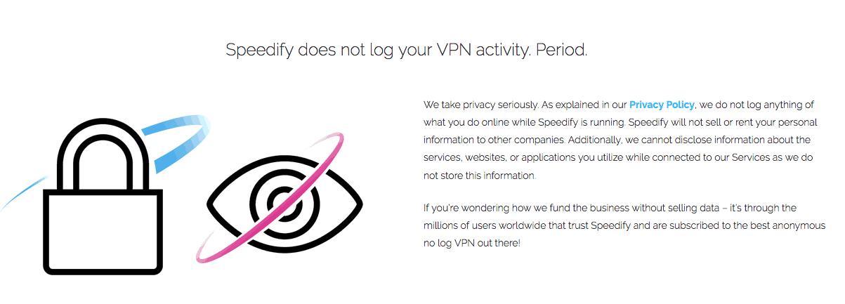Speedify VPN logging