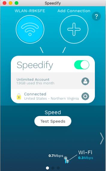 Speedify VPN usability