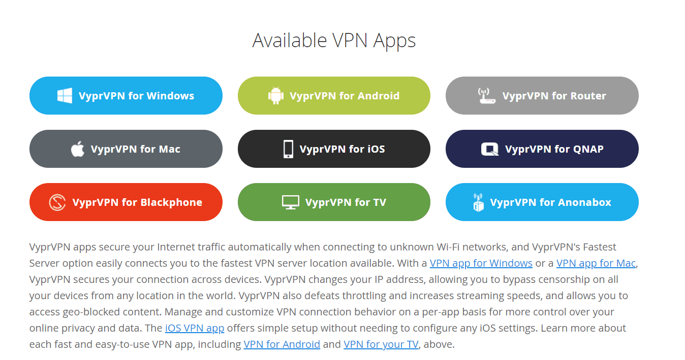 available VPN devices
