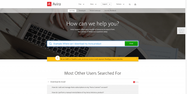 Avira Phantom VPN Customer Support