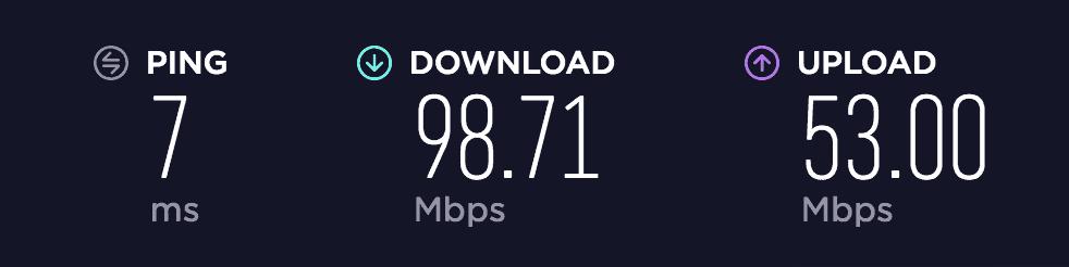 BolehVPN benchmark speed
