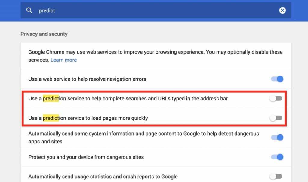 DNS leak fix in Google chrome