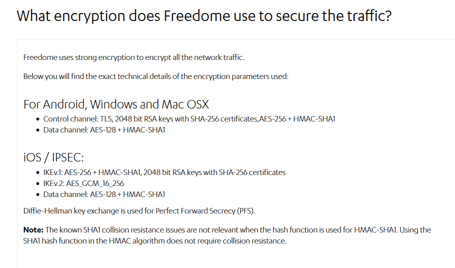 F Secure Freedome VPN data encryption